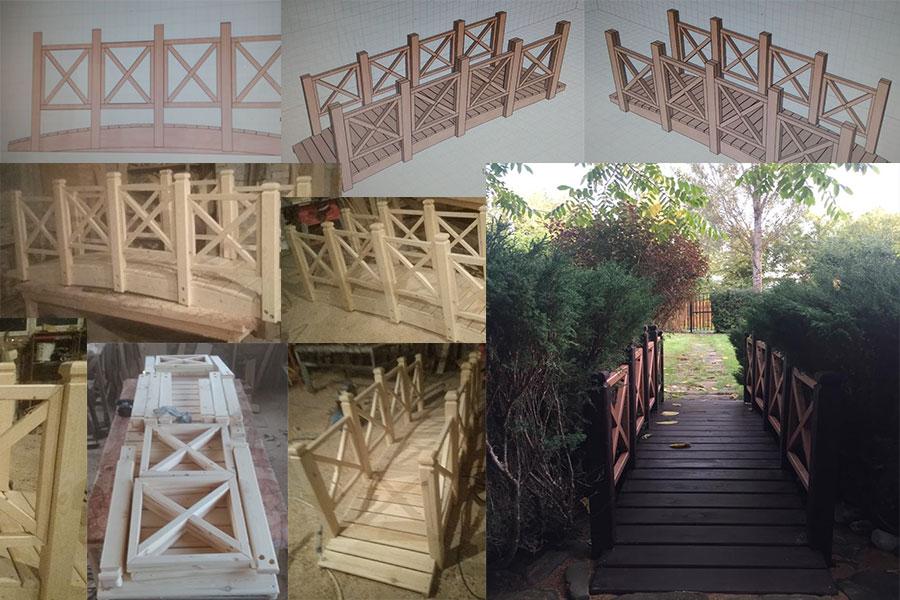 Изготовление мостика через ручей