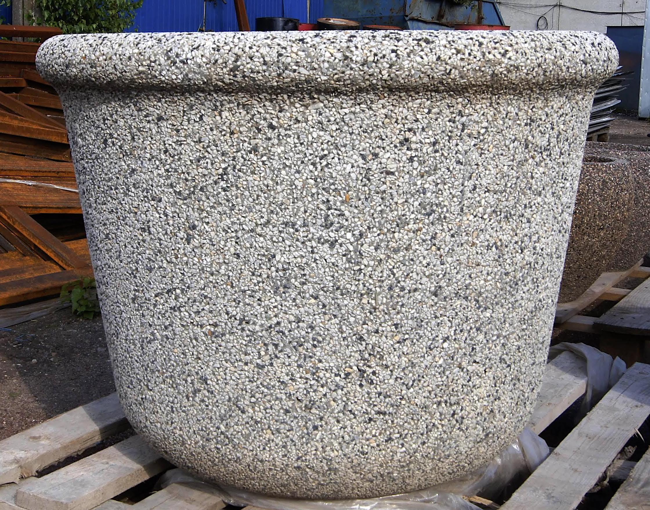 Вазон бетонный уличный Бигарден
