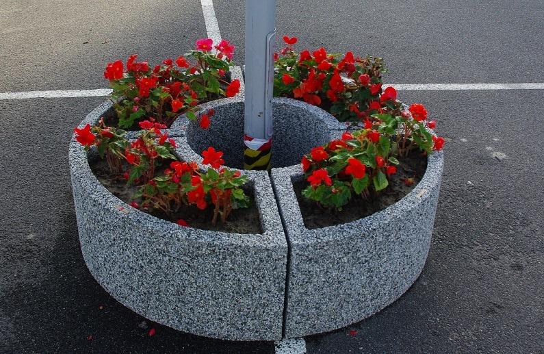 Вазон бетонный уличный Трансформер круг