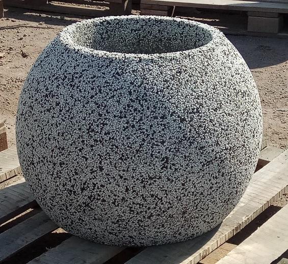 Вазон бетонный уличный Шар