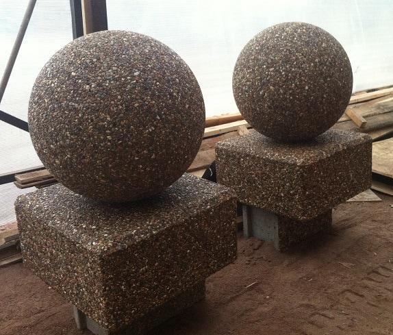 Ограждение бетонное Сфера 2, Ø 50 см для парковки