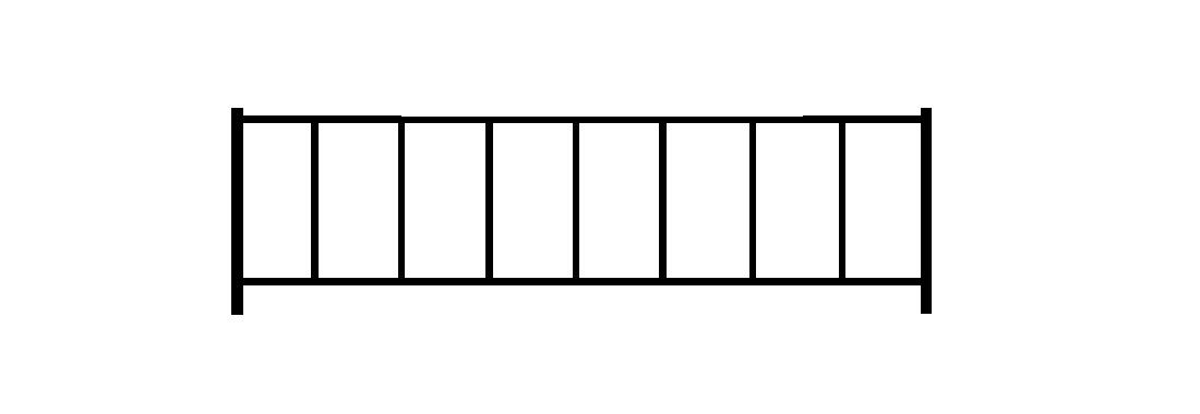 Садовое ограждение СС004