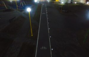 Подсветка тротуаров светящейся плиткой
