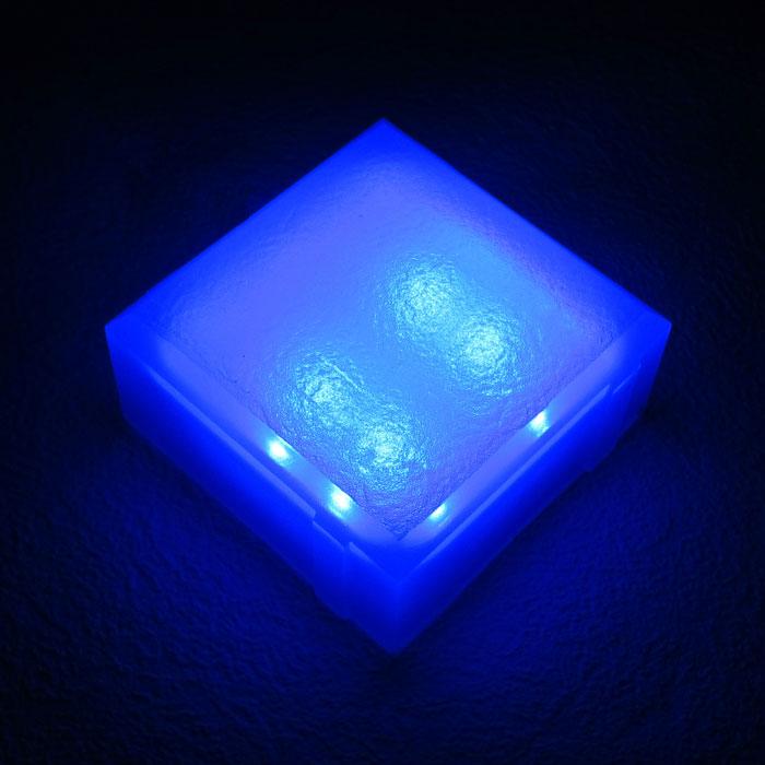 Светодиодный светильник 100х100х40 синий
