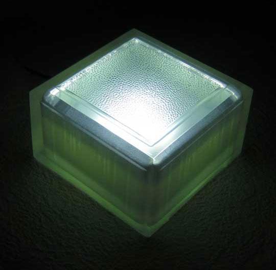 Светящаяся брусчатка 100х100х60 белая