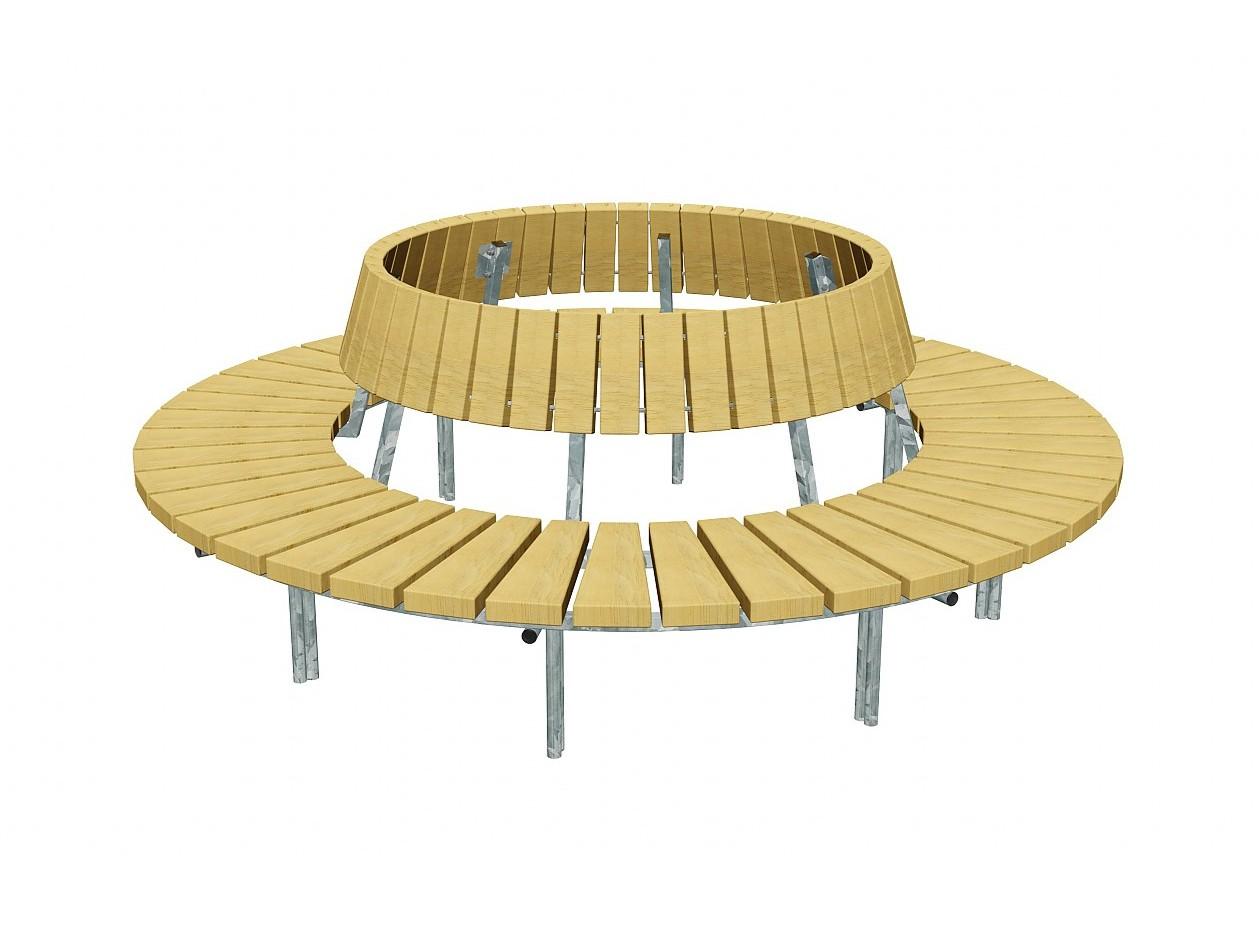 Скамейка BLOCK | Round Bench