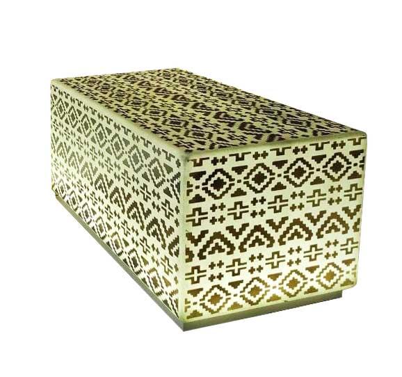 Куб скамейка с рисунком
