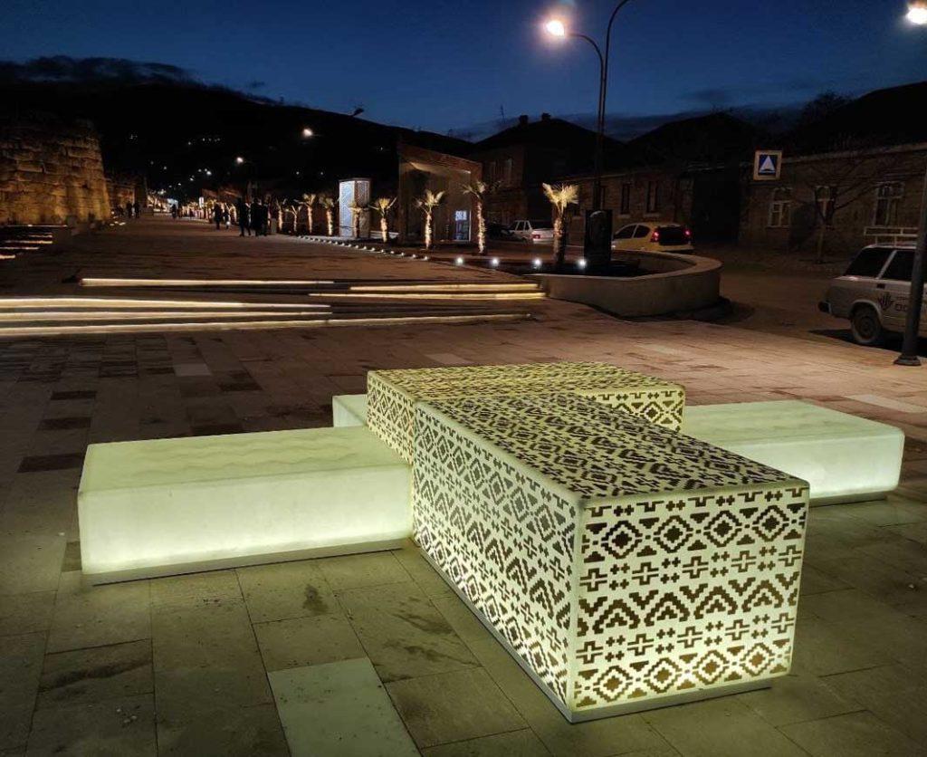 Скамейка куб светящаяся купить