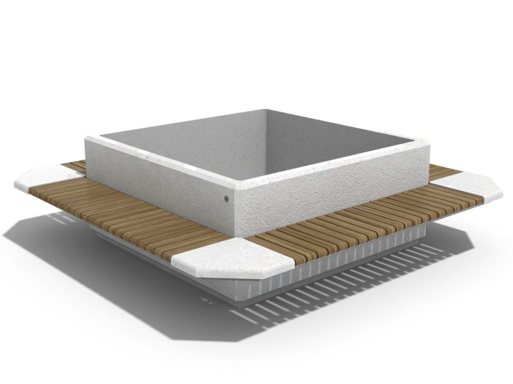 Скамейка 93   Bench with Integrated Planter