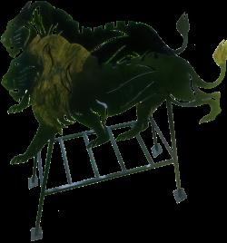 Мангал «Лев на стойке»
