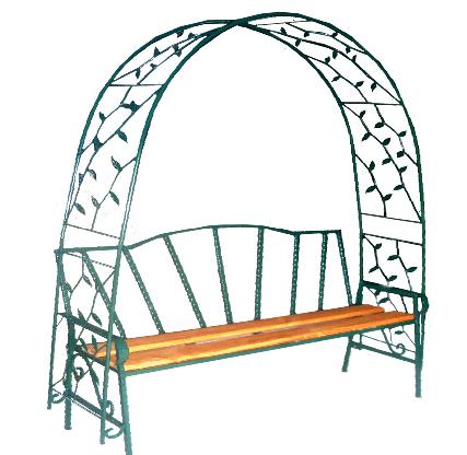Скамейка №8 с аркой