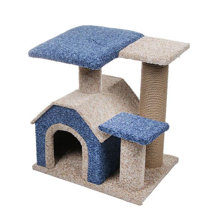 Когтеточки и домики для кошек