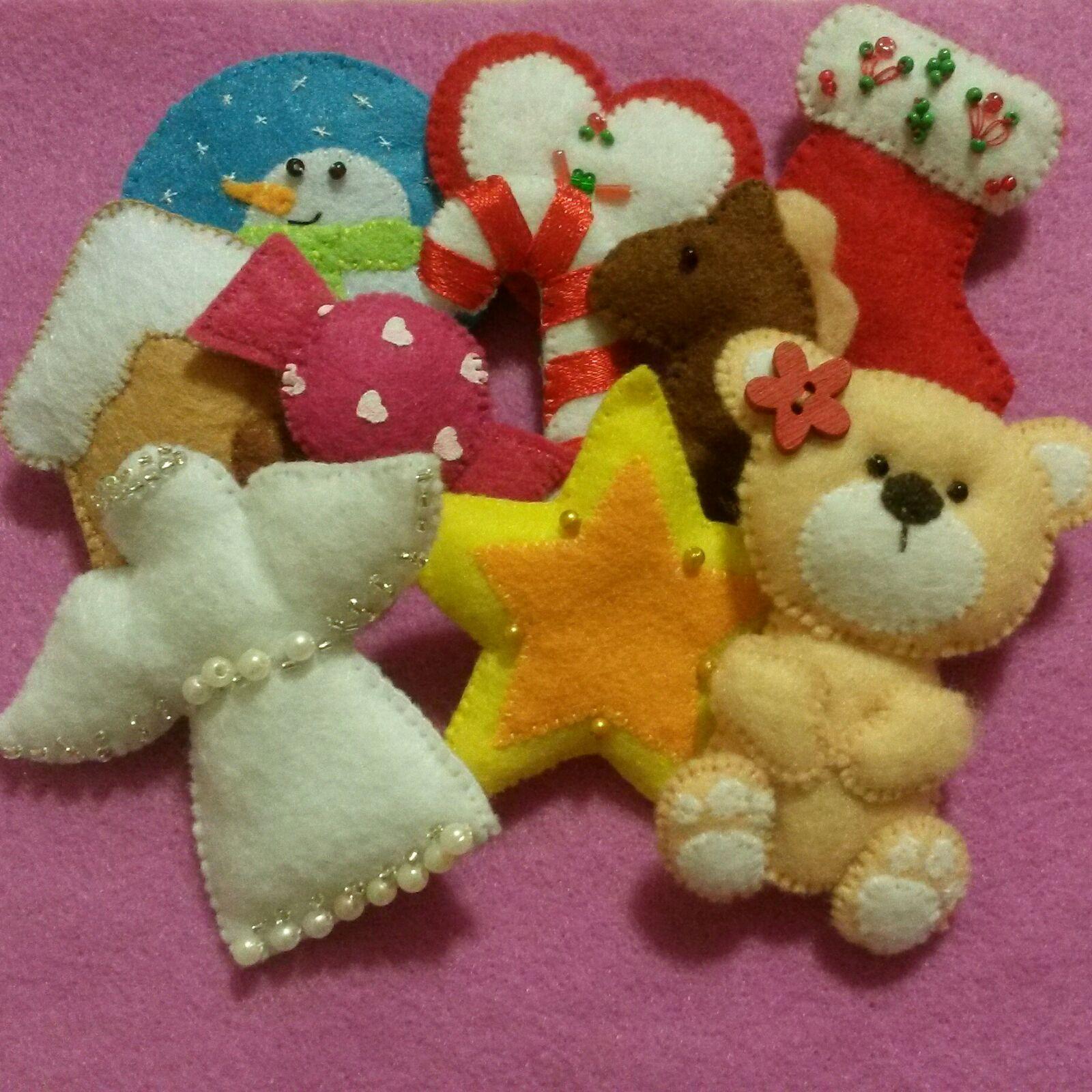 Ёлочные игрушки из фетра