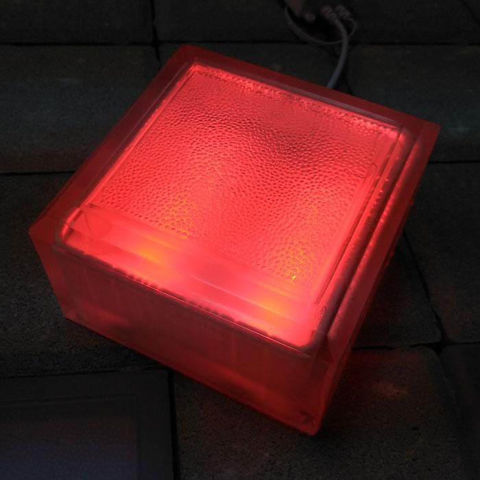 LED тротуарный камень 100х100х60 красный