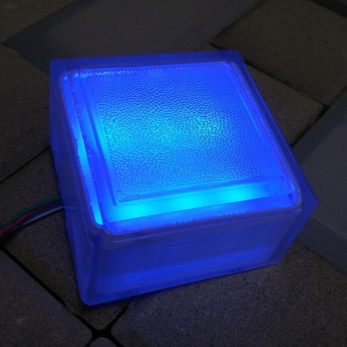 LED брусчатка 100х100х60 синяя