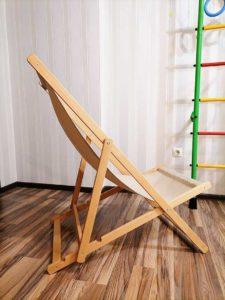 Шезлонг деревянный складной бежевый