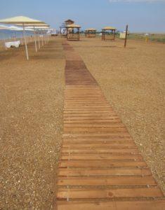 Деревянная рулонная дорожка для пляжа купить с доставкой России