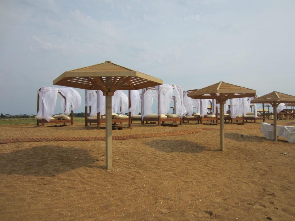 Пляжные зонты из дерева купить с доставкой по России