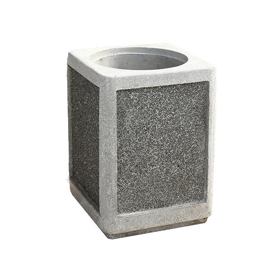 Урна для мусора из бетона