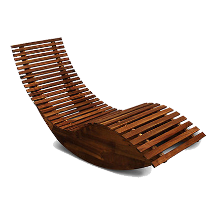 Шезлонг деревянный изогнутый купить