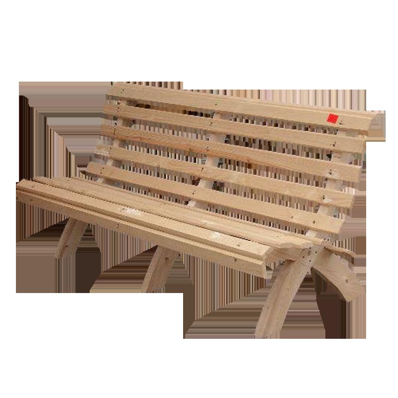 Деревянная скамейка для сада