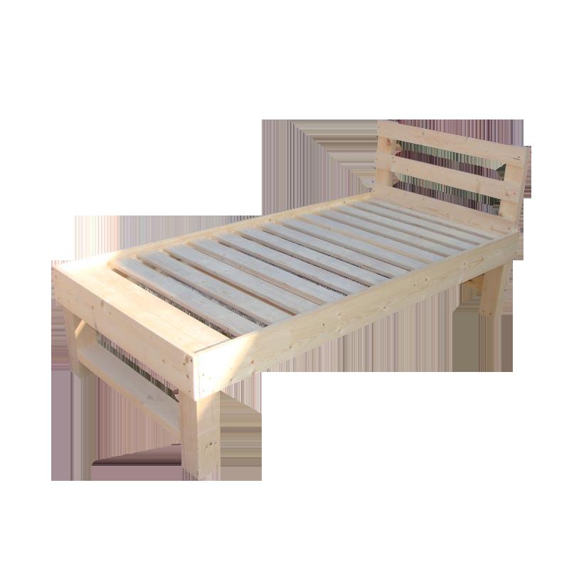 Кровать деревянная со спинкой