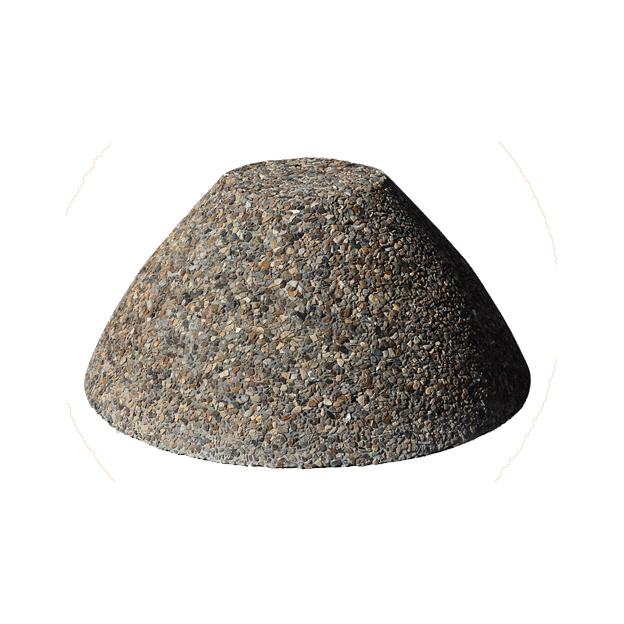 Бетонная полусфера тумба