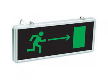 «Направление к эвакуационному выходу направо»