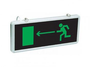 «Направление к эвакуационному выходу налево»