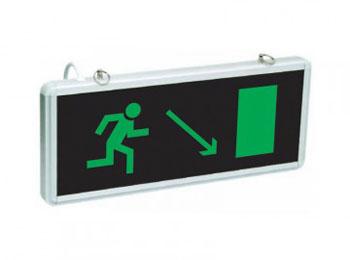 «Эвакуационный выход вниз на право»