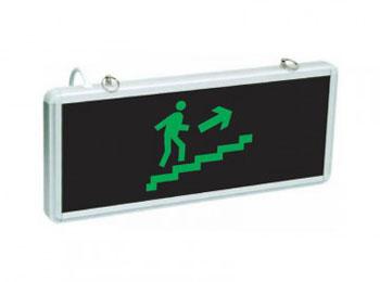 «Эвакуационный выход вверх направо»