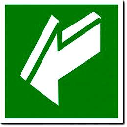 Табличка «Открывать движением на себя»