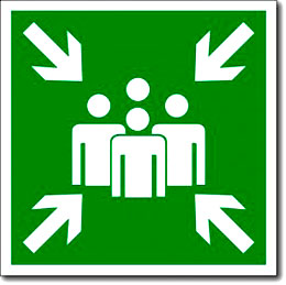 Табличка «Пункт (место) сбора»