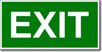 Табличка «Exit»