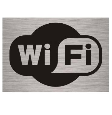 Табличка Wi-Fi алюминиевая