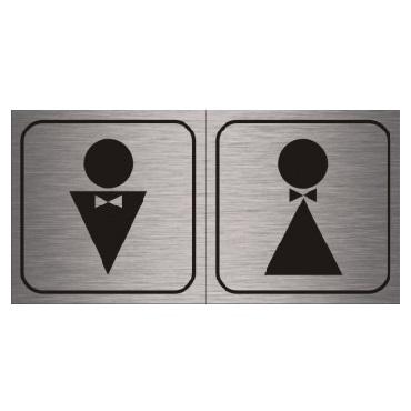 Табличка на дверь в туалет алюминиевая