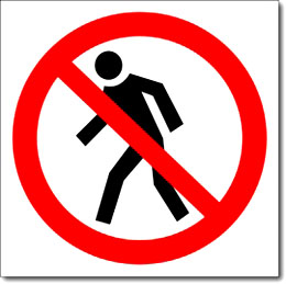 Наклейка «Проход запрещен»