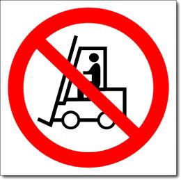 Знак «Запрещается движение средств»