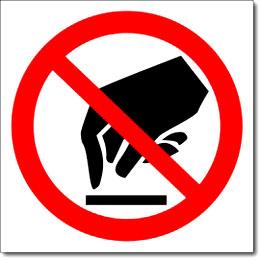 Знак «Запрещается прикасаться»