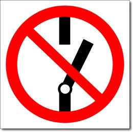Табличка «Не включать»