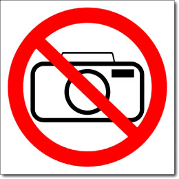 Табличка «Фотографировать запрещено»