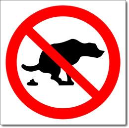 Наклейка «Собакам гадить запрещено»
