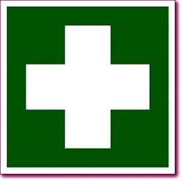 Табличка «Аптечка первой медицинской помощи»