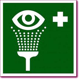 Табличка «Пункт обработки глаз»