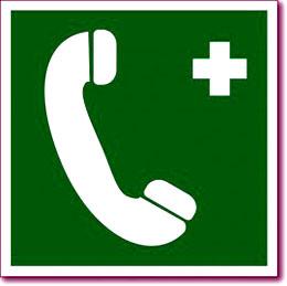 Табличка «Телефон связи с медицинским пунктом»