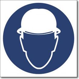 Знак «Работать в защитной каске»