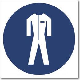 Знак » работать в защитной одежде»