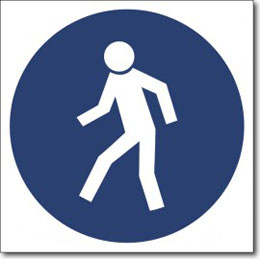 Табличка «Проход здесь»