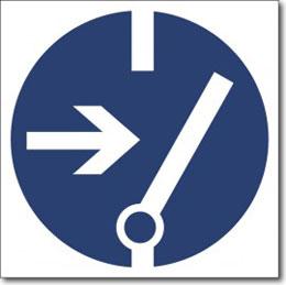 Табличка «Отключить перед работой»