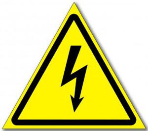 Табличка «Опасность поражения электрическим током»
